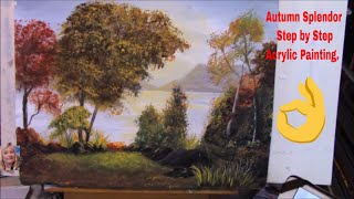 Autumn Splendor Part 2 Easy Acrylic Painting for Beginners Step by Step