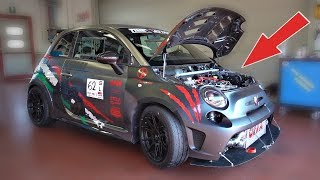 Time Attack Build Abarth 695 Biposto Won't Shift Into 4th Gear!! - Dogbox Gearbox FAIL @ Mugello!