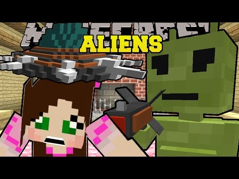 Minecraft: ABDUCTED BY ALIENS! (UFOS, RAY GUNS, & ALIENS!) Custom Command