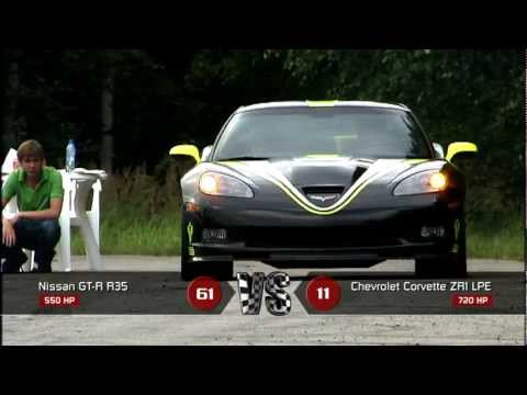 Chevrolet Corvette ZR1 vs Nissan GT-R Stage 1 Music Videos
