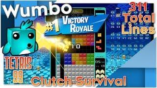 Tetris 99 - Clutch Survival 311 Total Lines #1 Victory Royale