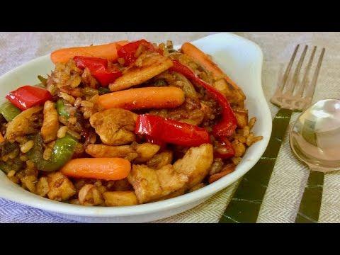 Самый вкусный в мире Рис с овощами и мясом в соевом соусе.Такой ужин понравится всем! Рецепты