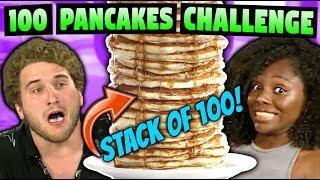 100 PANCAKE CHALLENGE!