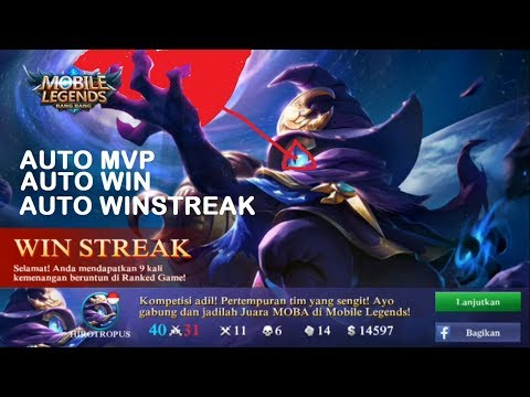 TUTORIAL CYCLOP AUTO WIN AUTO MVP AUTO WIN STREAK - MOBILE LEGEND INDONESIA