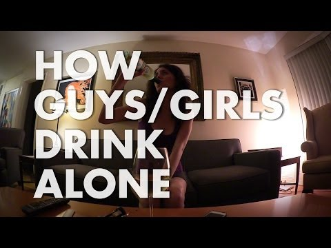 How Guys Vs. Girls Drink Alone