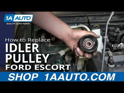 How To replace Install Squeaking Engine Belt Idler Pulley 1998-03 Ford ZX2