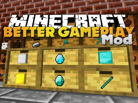 Minecraft BETTER GAMEPLAY MOD NEW TOOLS STORAGE AND HOTBAR