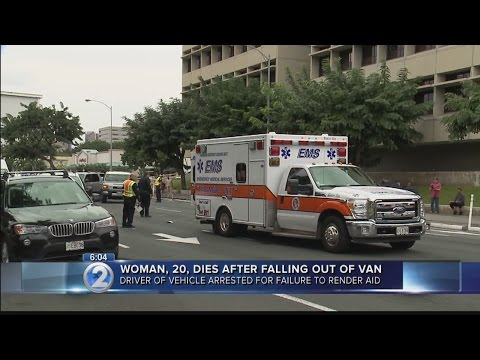 Woman dies after falling out of moving van on S. King St.