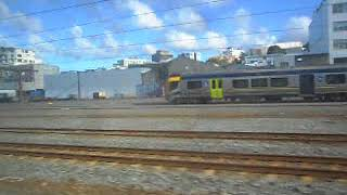 Train travel NZ - arriving into Wellington central