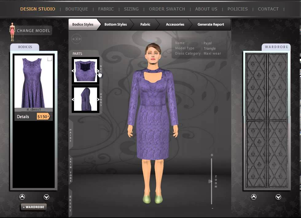 Design Clothes Online Virtual Design My Dress Trial Room