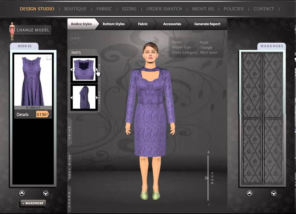 Design Clothes Online Virtual Design My Dress Trial Room