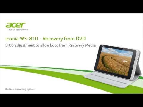 Iconia W3-810 - Recovery from DVD