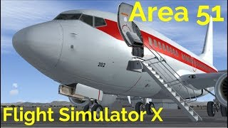 Flight Simulator X Secret Shuttle Into Area 51 Mission