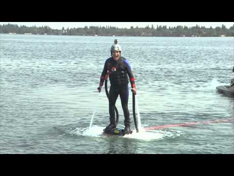 Rick tries out the brand new water sport on Alberta's Sylvan Lake.