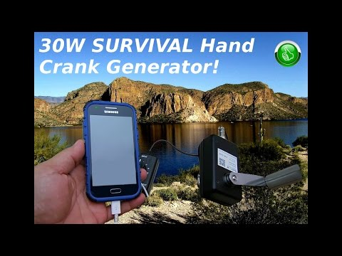 Survival 30W Hand Crank Generator(Phones/Tablets & More)