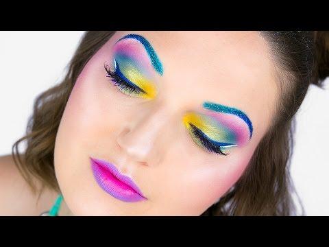 UNICORN Coachella Festival Makeup & Glitter Hair