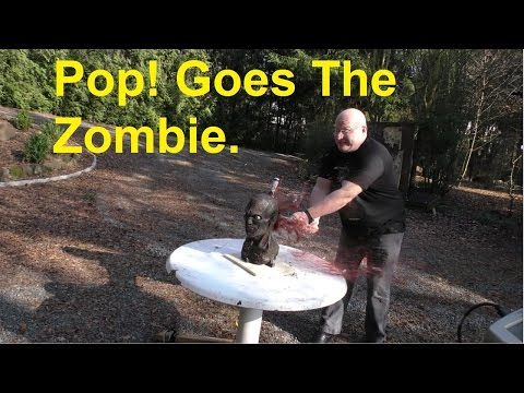 Pumping 42 liters of gas into a Zombie skull?