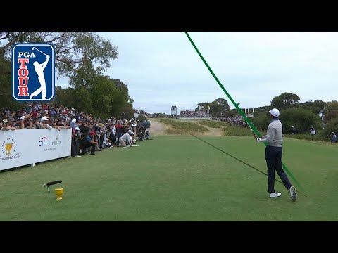 Using the slopes at Royal Melbourne in the Presidents Cup 2019