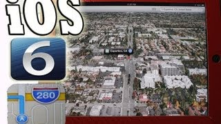 Apple Official iOS 6 NEW 3D Maps Update Hands-On Demo