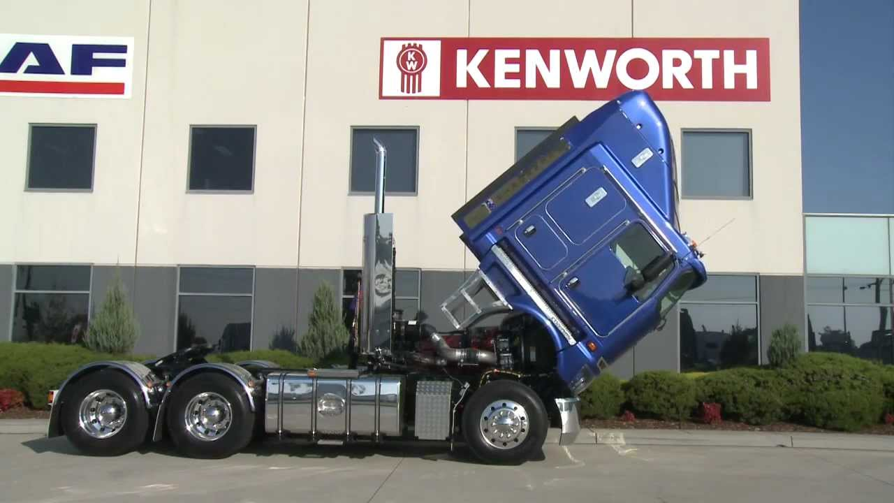 How To Tilt A Kenworth K200 Cabin Youtube