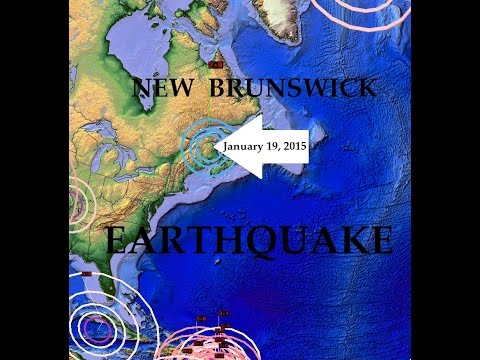 1/21/2015 -- Earthquake Forecast Check -- New Brunswick Canada added to the map today