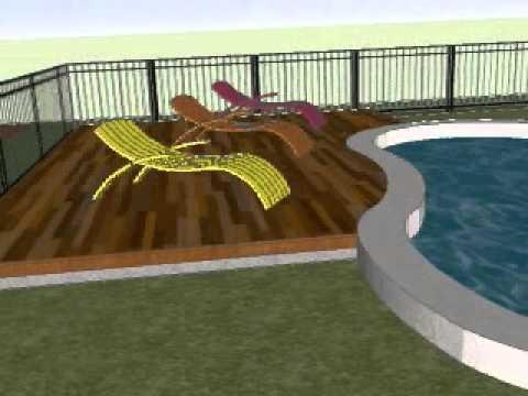 Composite Deck Around Pool Youtube