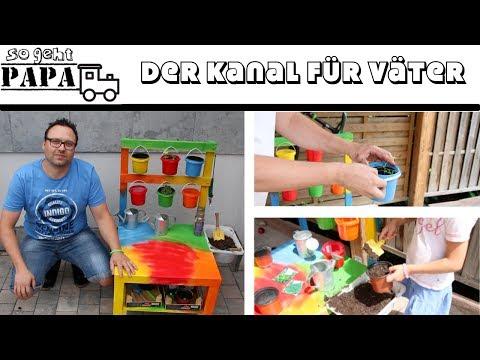 DIY KINDER-PFLANZTISCH selber bauen - UPCYCLING / schnell & einfach / sogehtPapa