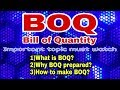 What Is BOQ Why BOQ Prepares How To Make BOQ Bill Of Quantity Engineering Tactics mp3