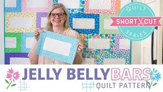 FREE Quilt Pattern: Jelly Belly Bars | Shortcut Quilt | Fat Quarter Shop