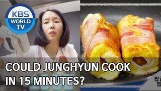Could Junghyun cook in 15 minutes? [Stars' Top Recipe at Fun-Staurant/2020.03.23]