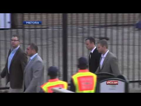 Day 17: Oscar Pistorius arrives at court for his murder trial