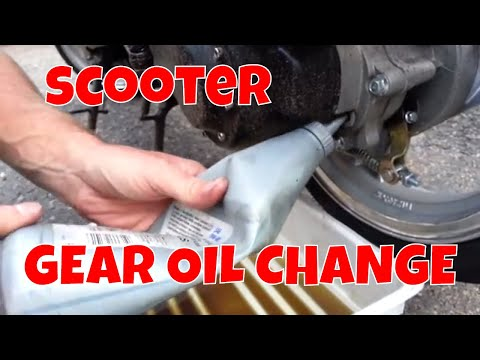 How to change the gear oil on a gy6 qmb139 139qmb or chinese scooter.