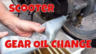 How to change the gear oil on a scooter.