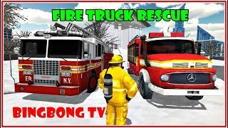 Fire Truck Rescue Simulator - Fire Truck Game For Kids | Video game for children #carsgames