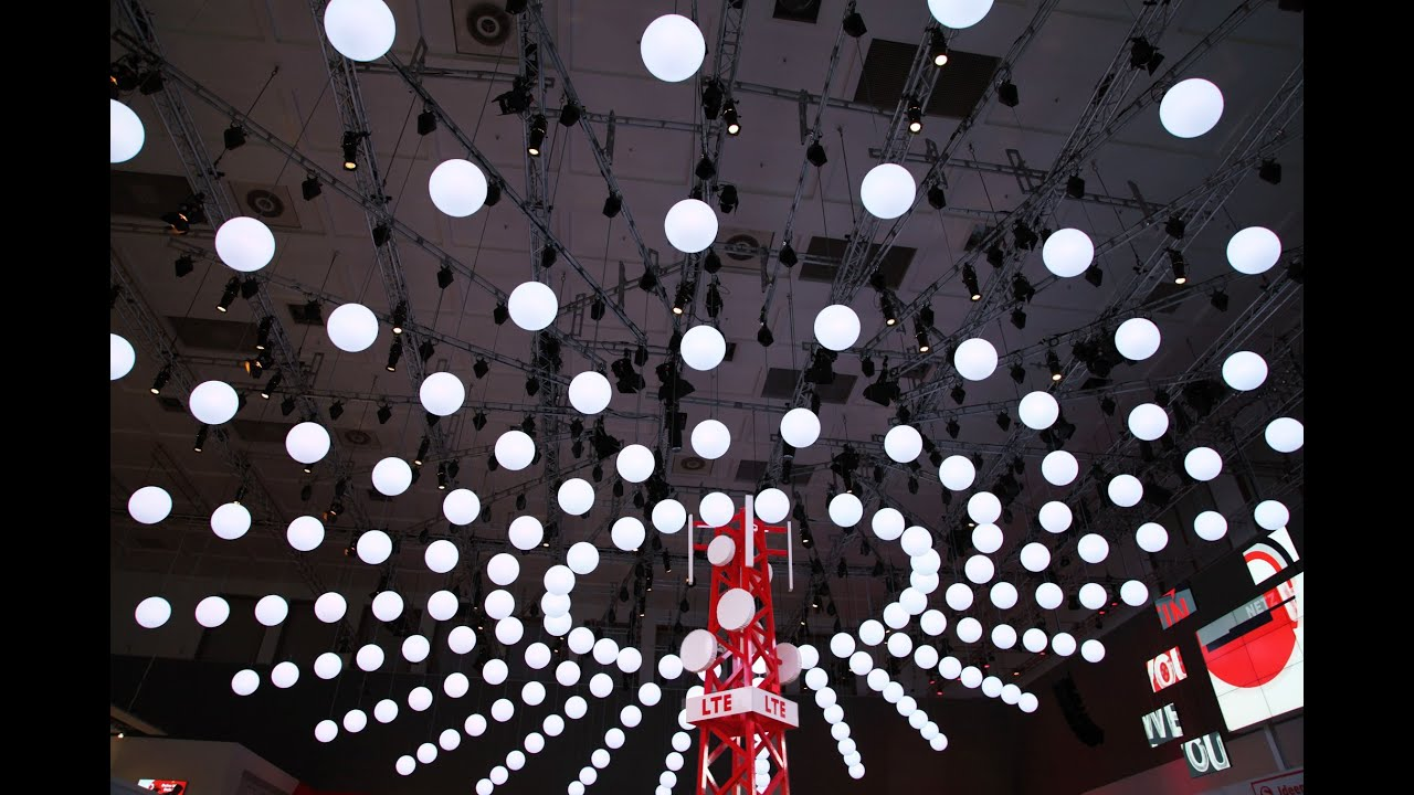 Kinetic Lights Installation With Dmx Winches And Lift Led