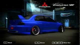Need for Speed Most Wanted 2005 - Mitsubishi Lancer Evolution VIII Stance