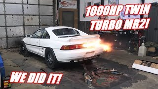 Mr2 Makes 1000Hp On TWIN EBAY TURBOS!