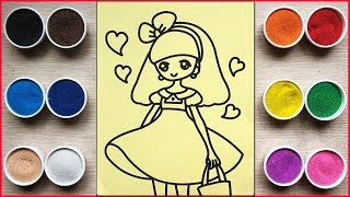 Colored sand painting princess toys - Chim Xinh