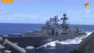Tuần dương hạm của Hải quân Hoa Kỳ chèn tàu Nga ở Biển Hoa Đông