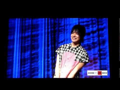 Nobuhiko Okamoto Voice of Rin Okumura at Anime Expo 2012 Opening Ceremony