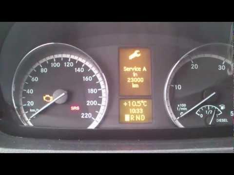 Kasowanie Inspekcji MERCEDES VITO W639 Oil Service Indicator Light Reset  MERCEDES VITO W639