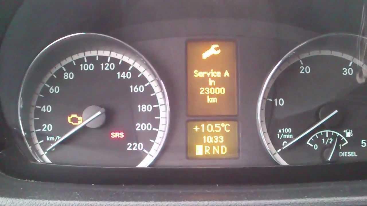 Mercedes Sprinter Srs Light Reset
