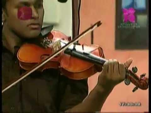 Sri Lankan Young Violinist Nalinda Ekanayake Playing muwa Muktha Latha At 7 Dreams On Slrc video