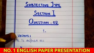 Beautiful Presentation For English Subjects In Board Exams | English Presentation | For All Classes