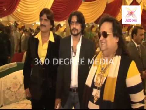 Bappi Lahiri & Comedian Ehsaan Qureshi Pose-bappi Lahiri's Birthday & Completion Of 'maut Ka Jungle' video