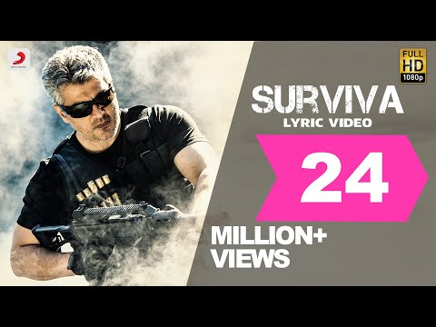 Vivegam  Surviva Tamil Lyric  Anirudh Feat Yogi B, Mali Manoj  Ajith Kumar  Siva
