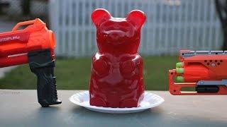 Nerf War:  Showdown for the Biggest Gummy Bear in the World