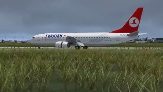 FSX Turkish Airlines Landing Atatürk Airport(LTBA)(Aİ traffic)