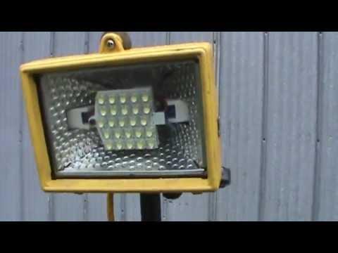 12v LED pole work lights conversion