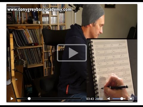 Jazz Standards Bass Guitar Lesson - Tony Grey video